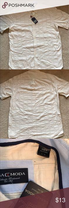 Men's brand new dress shirt. Brand new dress shirt. 74% cotton, 26% nylon. casa c moda Shirts Dress Shirts