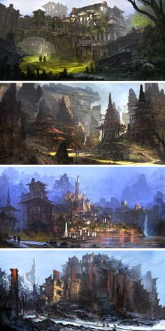 Fantasy Concept Art by Feng Zhu