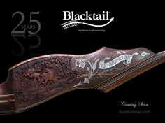 In celebration of Blacktail's 25th Anniversary, we are nearing completion of this special Legacy Series bow. Over the next 2-3 weeks, we plan to complete the hand-engraved silver limb bolts/bezels and remaining inlay and finish work. This investment-grade, Legacy series bow will be offered with our Legacy Leather Hard Case and hand-tooled arm guard. Stay tuned...www.blacktailbows.com