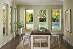Casement windows are an excellent solution for rooms that need light and fresh air. The great outdoors is just a crank away!