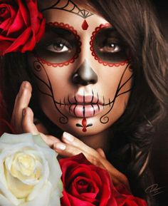 Lowbrow Art Company - Raquel Day of the Dead Portrait Art Print by Daniel Esparza $19.95