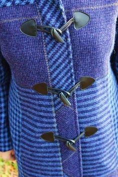 Beautiful blue Donegal  tweed coat Irish Celtic, Celtic Knot, Tweed Coat, Waterford Crystal, Donegal, Claddagh, Herringbone, Swarovski Crystals, Patterns