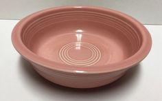 "Retired FIESTAWARE 7"" Pink Cereal Soup Bowl Homer Laughlin HLC Fiesta Rose  | eBay"