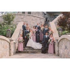Great looking wedding party!