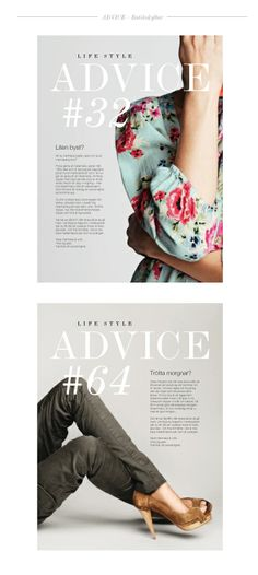 """Concept, layout and loyalty program for """"Life Style by KappAhl"""". Store signs with fashion advice. Art direction for smicker. Store Signs, Loyalty, Fashion Advice, Art Direction, Layout, Concept, Lifestyle, Prints, Page Layout"""