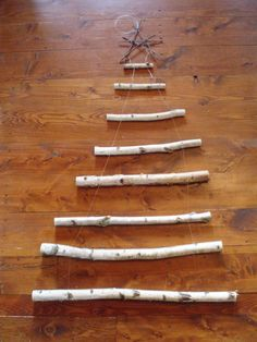 Handmade Birch Branch Wall Christmas Tree $100. w/free shipping. ONLY 3 of them