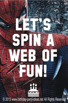 Spiderman birthday p