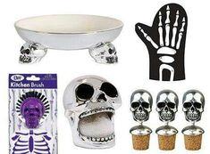 Skull kitchen accent pieces