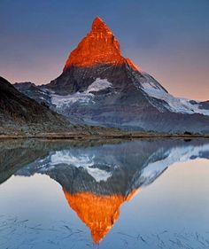 Why is the Matterhorn Switzerland's Most Famous Mountain?: The Matterhorn reflects in Riffelsee Lake.
