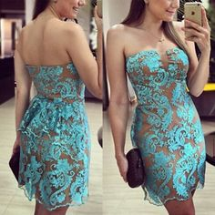 Green Floral Lace Grenadine Bandeau Sexy Sleeveless Mini Dress
