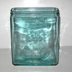 Vintage Exide Aqua Glass Battery Jar