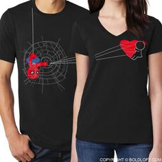 His and Hers Shirts Matching Couples Shirts Spiderman Shirt Black Spiderman Gift Avengers Shirt Gift for Boyfriend Couples Gift BoldLoft Spiderman Shirt, Avengers Shirt, Black Spiderman, Marvel Shirt, Spiderman Outfit, Batman Outfits, You Are My Superhero, Superhero Gifts, Matching Couple Shirts