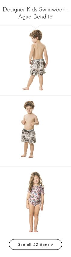 """Designer Kids Swimwear - Agua Bendita"" by bikiniluxe ❤ liked on Polyvore featuring swimwear, agua bendita, swim trunks, agua bendita swimwear, kids swimwear and kids"