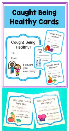 Promote, encourage, and bring awareness to healthy behaviors with these Caught Being Healthy Cards. Use the cards in your classroom to recognize and reward students for engaging in healthy behaviors.