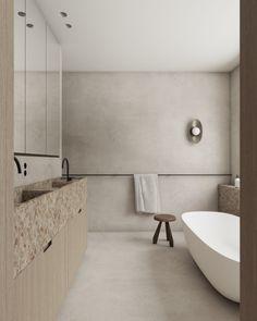 HB – Studio Leeman Baths Interior, Bathroom Interior Design, Bathroom Floor Tiles, Bathroom Wallpaper, Bathroom Inspo, Bathroom Inspiration, Bathroom Ideas, Small Bathroom, Master Bathroom