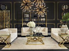Art deco home decor how to include the design trend in any room living decorating ideas Estilo Hollywood Regency, Hollywood Regency Decor, Luxury Furniture, Home Furniture, Furniture Design, Wooden Furniture, Outdoor Furniture, Furniture Makeover, Antique Furniture