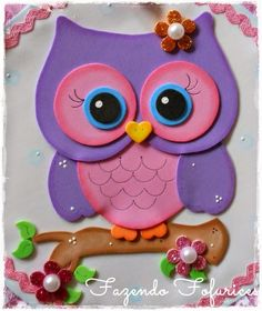 Discover recipes, home ideas, style inspiration and other ideas to try. Kids Crafts, Owl Crafts, Diy And Crafts, Arts And Crafts, Paper Crafts, Foam Sheet Crafts, Owl Templates, Decorate Notebook, Foam Sheets