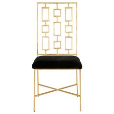 """Search Results for """"worlds away david gold leafed dining chair black velvet seat david gblack"""" – domino"""