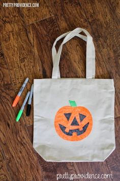 Pretty Providence   A Frugal Lifestyle Blog: Halloween DIY: Trick or Treat Tote Bags