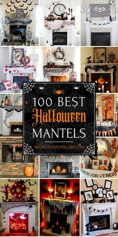 Best Halloween Mantel Decor Ideas Spookify your home with these creative Hal. Best Halloween Mantel Decor Ideas Spookify your home with these creative Hal. Halloween Veranda, Halloween Fireplace, Farmhouse Halloween, Halloween Porch, Halloween Home Decor, Diy Halloween Decorations, Halloween Candelabra, Spider Decorations, Outdoor Halloween