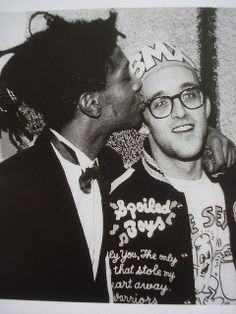 double awesome! jean-michel basquiat and keith haring.