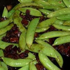 Bacon and Balsamic Glazed Sugar Snap Peas Recipe