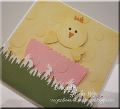 Easter Card (punch art chickie) by Lovetostamp6 - Cards and Paper Crafts at Splitcoaststampers