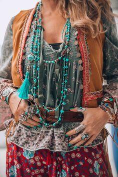 Bohemian chic jewelry mix