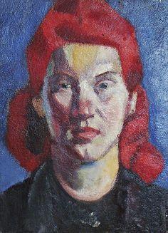 Ernest Zmeták: Dievča s červenými vlasmi:1941