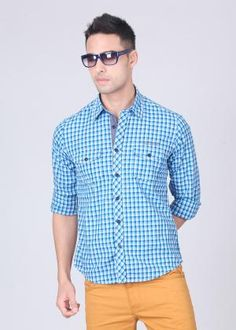 Pepe Men's Checkered Casual Shirt   BestinOffers