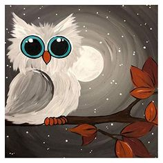 Avton DIY Adult Diamond Painting Kit Paint with Diamonds, Cute Owl Rhinestone Cross Stitch Kit Art Craft Canvas Wall Decor / Easy Canvas Painting, Diy Painting, Painting & Drawing, Kids Canvas Art, Beginner Painting, Owl Canvas Paintings, Canvas Art Projects, Baby Canvas, Painting Classes