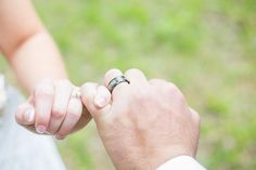 Let this lovely southern wedding with hints of camo and the camo cross ring inspire you to have the wedding of your dreams. Wedding Ideas To Make, Camo Wedding Rings, Stud Earrings, Rustic, Weddings, Engagement Rings, Country, Jewelry, Country Primitive
