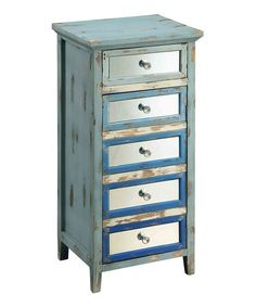 Loving this Blue Distressed Accent Chest on #zulily! #zulilyfinds