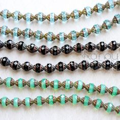 Multicolor Czech Glass Faceted Turbine Beads Facet by KanduBeads
