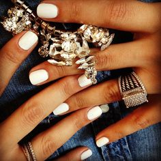Obsessed with white nail polish. Photo by jinsoonchoi.