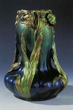 Vilmos Zsolnay, Hungarian, 1828 - 1900  Art Nouveau Vase, 1899  earthenware with iridescent metallic luster glaze  39.4 x 27.9 (15 1/2 x 11)  Minneapolis Institute of Arts, Gift of the Norwest Corporation