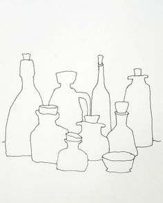 Karl Seitinger, Still Life Sketch with Jars on ArtStack #karl-seitinger #art