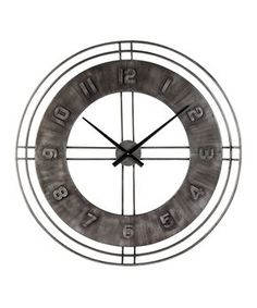 Ana Sofia - Antique Gray - Wall Clock by Signature Design by Ashley. Get your Ana Sofia - Antique Gray - Wall Clock at JB's Furniture, Milwaukee WI furniture store.