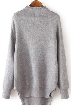 Half-Collar Side Slit Jumper