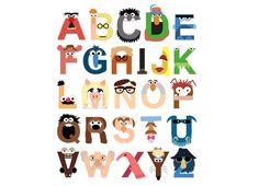 Muppet Alphabet #muppets #tshirt #threadless