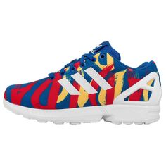 the best attitude cd706 3a882 Adidas Originals ZX Flux rojo azul Amarillo Sneakers mujer Corriendo  Zapatos…