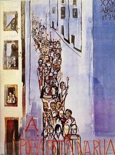 """A Poesia está na Rua"" by Vieira da Silva - 1974"