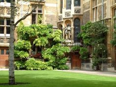 Gonville and Caius College courtyard in Cambridge.