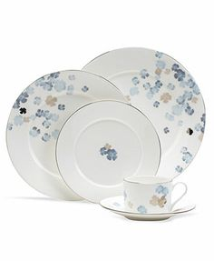 Martha Stewart Collection Dinnerware, Water Blossoms Collection