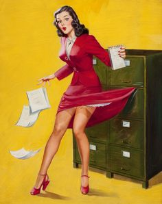 Office Pinup Girl