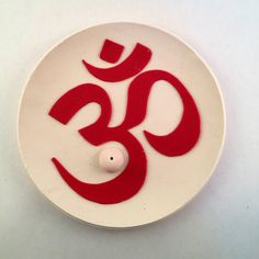 """Polymer Clay """"Ohm"""" Incense Holder"""