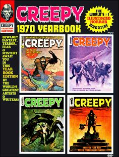 Creepy 1970 Yearbook - Cover by Frazetta