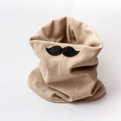 Make a moustache cowl - Follow @Guidecentral for fun #DIY and #craft projects