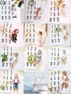 Baby Monthly Milestone Blanket™ - Cotton Muslin Swaddle Blanket