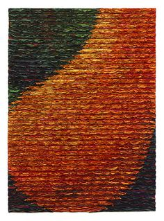 Orange Pear by Tim Harding: Fiber Wall Art available at www.artfulhome.com